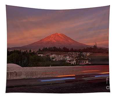 Misti Volcano In Arequipa, Peru, South America Tapestry
