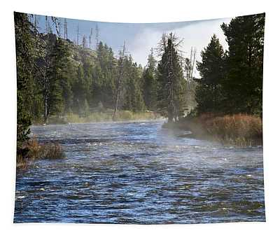 Misty Morning On Idaho's Salmon River Tapestry