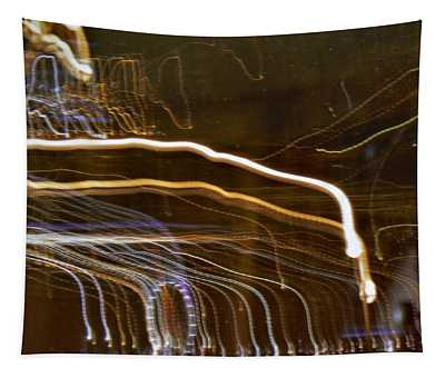 Monaco At Night Tapestry
