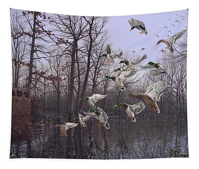 Monday Morning Mallards Tapestry
