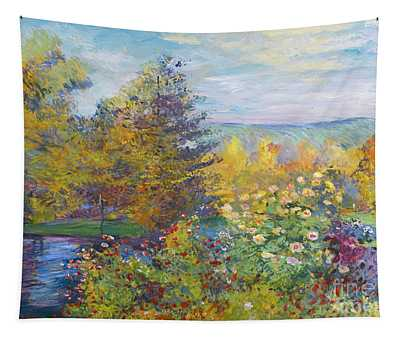 Monet In The Park Tapestry