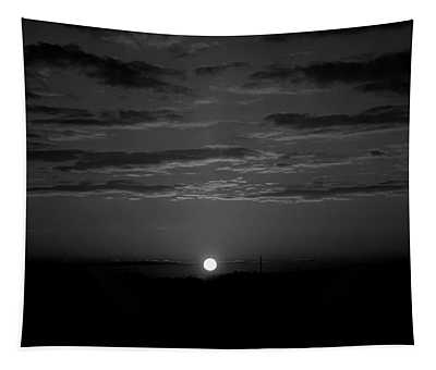 Monochrome Sunrise Tapestry