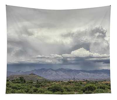 Monsoon Storms Over The Catalinas Tapestry