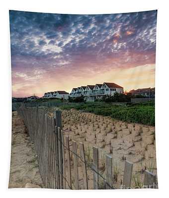 Montauk Beach Sunset Bungalows Tapestry