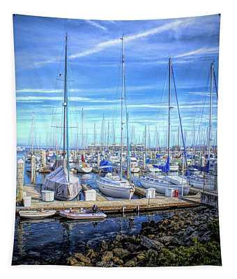 Monterey Harbor California 2 Tapestry
