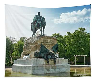 Monument To General Arsenio Martinez Campos In Madrid, Spain Tapestry