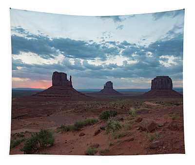 Monument Valley Before Sunrise Tapestry