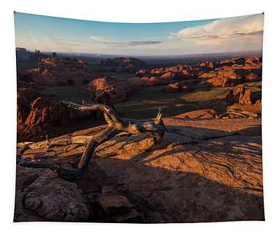 Monument Valley From Hunts Mesa Tapestry