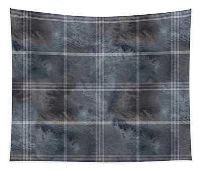 Moody Blue Plaid Tapestry