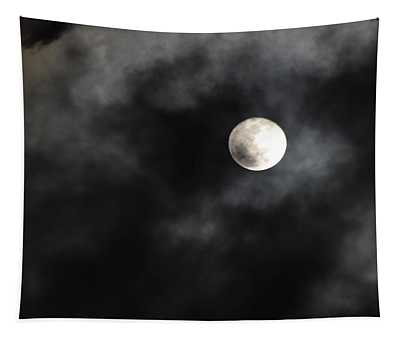 Moon In The Still Of The Night Tapestry