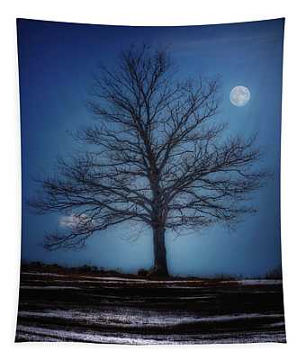 Moon Over Liberty Tree Tapestry