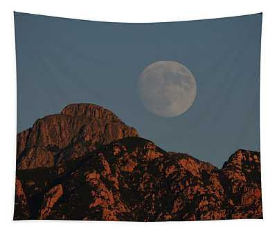 Moon Rise Over Mount Wrightson  Tapestry