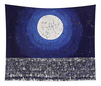 Moonbathing Original Painting Tapestry