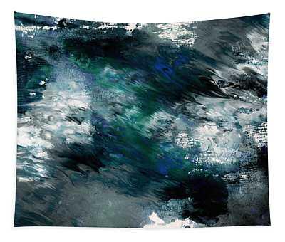 Moonlight Ocean- Abstract Art By Linda Woods Tapestry
