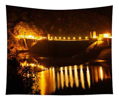 Moonlit Dam Tapestry