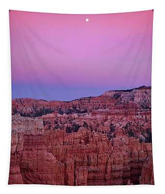 Moonrise Over The Hoodoos Bryce Canyon National Park Utah Tapestry