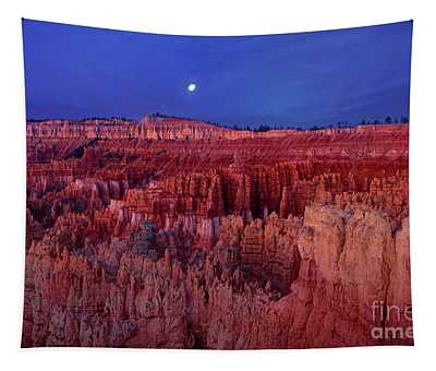 Moonrise Over The Silent City Hoodoos Bryce Canyon National Park Tapestry