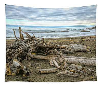 Moonstone Beach Driftwood Beach House 2 Tapestry