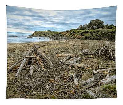Moonstone Beach Driftwood Beach House 3 Tapestry