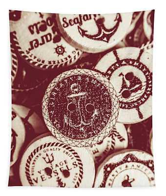 Mooring In Maroon  Tapestry