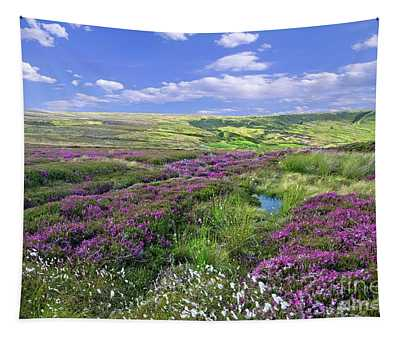 Moorland Heather And Cottongrass Tapestry