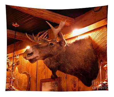 Moose At Flanagans Pub And Grill Schroon Lake New York Tapestry