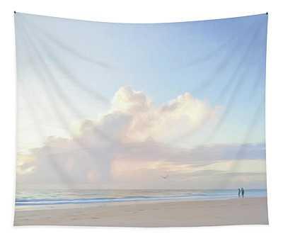 Morning Beach Walk 69x92 Tapestry