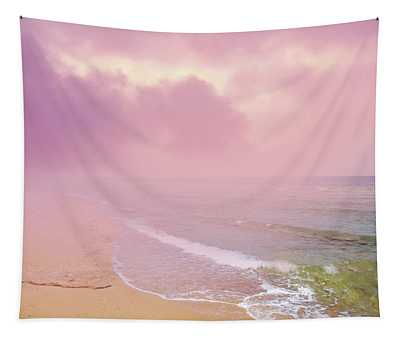 Morning Hour By The Seashore In Dreamland Tapestry