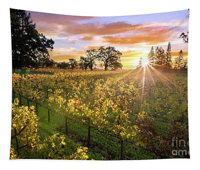 Morning In Napa Tapestry