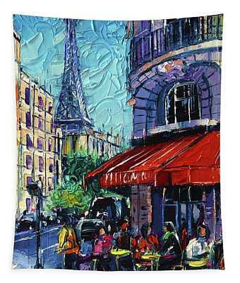 Morning In Paris Tapestry