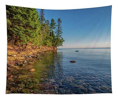 Morning Light On Lake Superior  Tapestry
