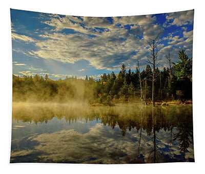 Morning Mist, Wildlife Pond  Tapestry
