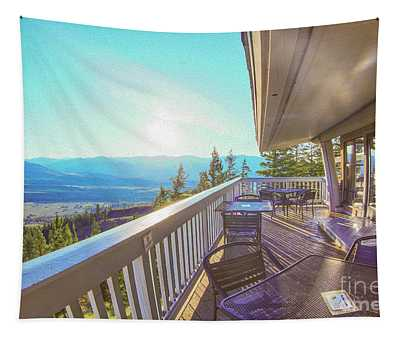 Morning Sunrise At Sun Mountain Lodge Architectural Photography By Omaste Witkowski Tapestry