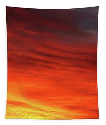 Morning Sunrise Orange Yellow Tapestry
