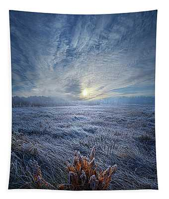 Morning Time Blues Tapestry