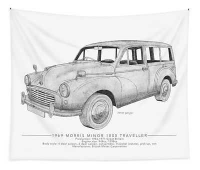 Morris Minor 1000 Traveller Tapestry