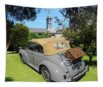Morris Minor Grey Convertible Tapestry
