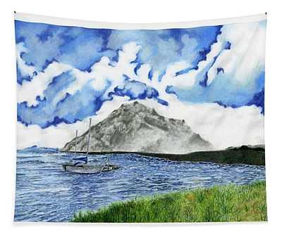 Morro Rock By Phoebe Jeng Grade 12 Tapestry
