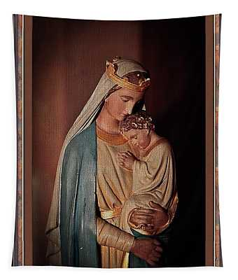 Mother And Child A Christmas Icon Tapestry