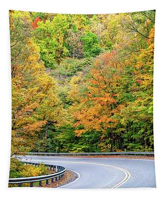 Motorcycle Country - West Virginia Tapestry