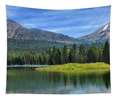 Mount Lassen And Manzanita Lake Panorama Tapestry