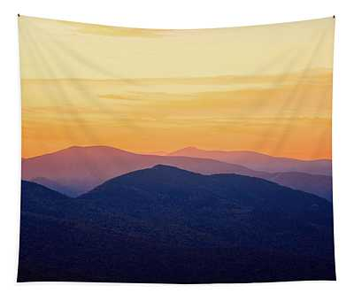 Mountain Light And Silhouette  Tapestry