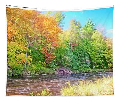 Mountain Stream In Early Autumn Tapestry