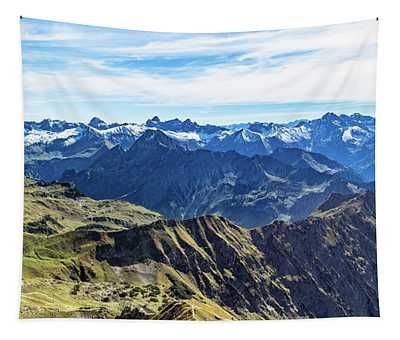 Mountain View To The Allgaeu Alps Tapestry