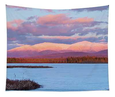 Mountain Views Over Cherry Pond Tapestry