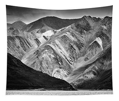 Tapestry featuring the photograph Mountains At Pangong by Whitney Goodey