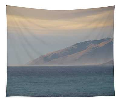 Mountains Meet The Sea - Shelter Cove California Tapestry