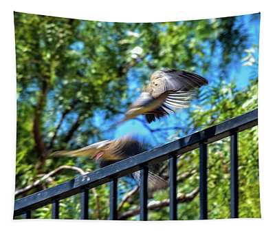 Mourning Doves Motion Capture Abstract 2 Tapestry