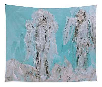 Mr And Mrs Angels Tapestry