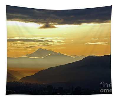 Mt Ausangate And Cusco At Dawn Peru Tapestry